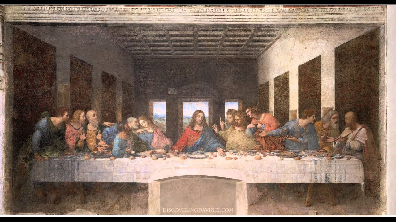 The Last Supper Pre and Post Restoration - YouTube Da Vinci Last Supper Restored