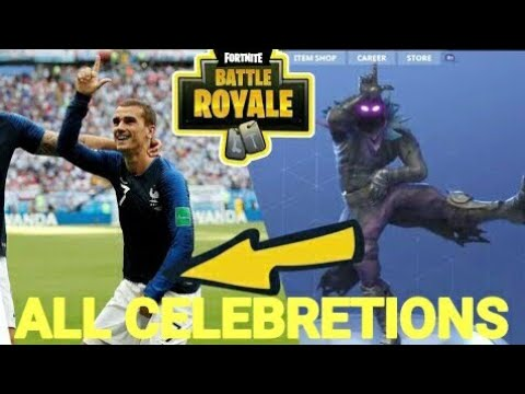 GRIEZMANN FORTNITE DANCE COMPILATION HD