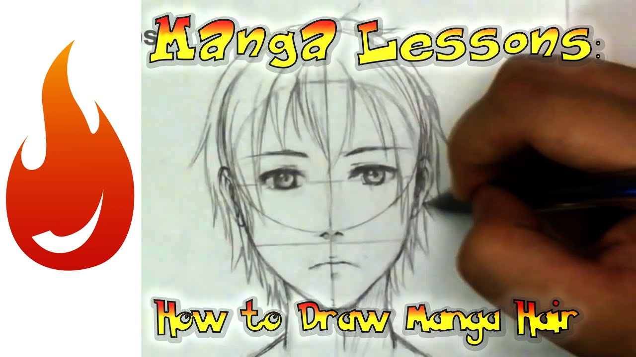 How To Draw Manga Hair The Basics Youtube