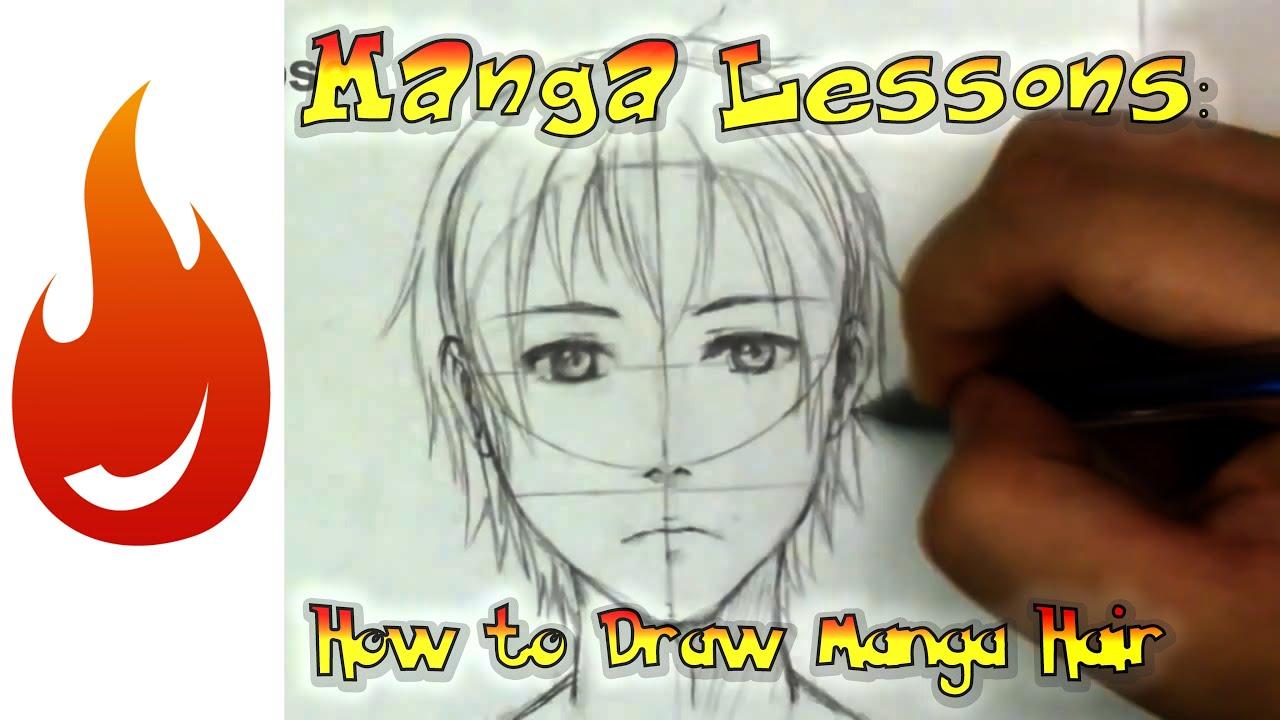 draw manga hair basics