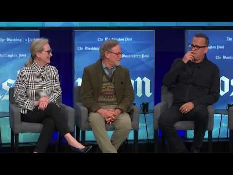 'The Post': Steven Spielberg, Meryl Streep, Tom Hanks talk new movie at The Washington Post