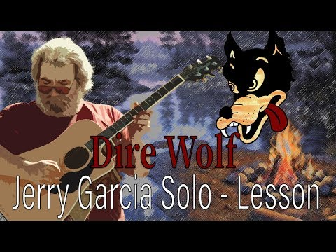 Dire Wolf Lesson - Jerry Garcia Acoustic Guitar Solo (with tab)