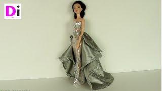 Шьем платье со шлейфом для куклы Барби
