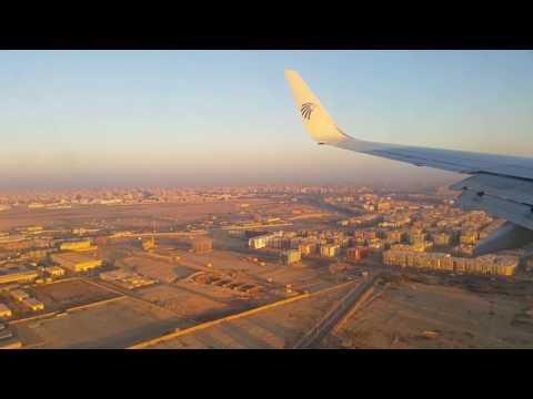 Approach and Landing at Cairo International Airport Runway 05C on Feb 19th, 2017