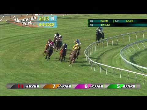 video thumbnail for MONMOUTH PARK 08-09-20 RACE 9   THE OCEANPORT STAKES