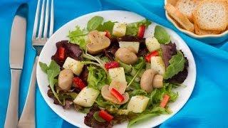 Постный салат из грибов и картофеля