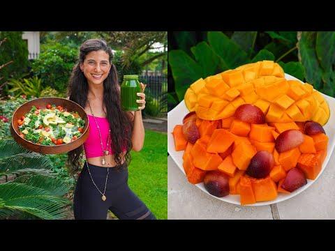 What I Ate Today...Hot Texas Summer! 🥭 FullyRaw Vegan