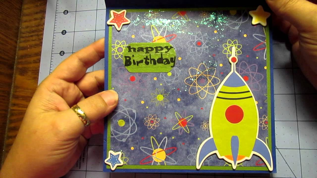 Planet X Happy Birthday Card Young Boy Shaker