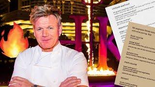 Gordon Ramsay's HELL'S KITCHEN Restaurant Menu Prices Vegas