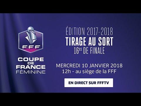 Coupe de france f minine 16es de finale le tirage au - Tirage au sort coupe de france de football ...
