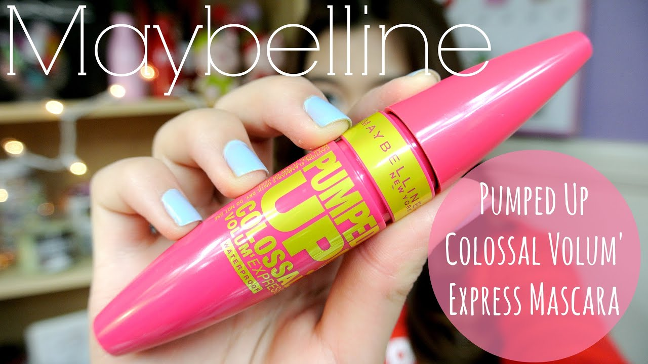 MMM}: NEW Maybelline PUMPED UP Mascara First Impression/Demo ...