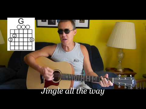 Jingle Bells with lyrics & chords - Christmas Songs on Guitar - C20