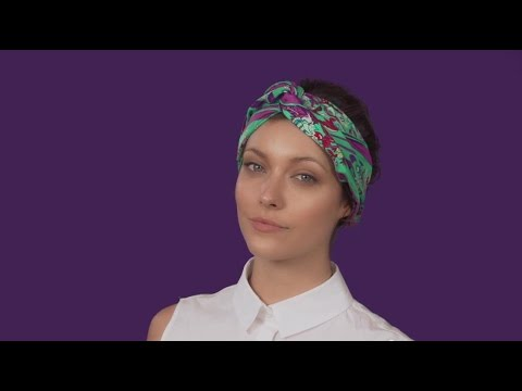 How To Tie A Scarf - Scarf Styling Guide  The Twisted Headband - YouTube e63138fa980
