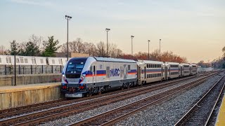 MTA Maryland MARC Commuter Rail Siemen Charger SC 44 In Action