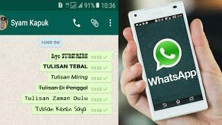 Download Cara Membuat Tulisan Unik Di Whatsapp Mp3 and Videos