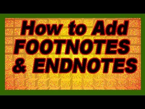 MS Word: How to Add References Citations (Footnotes Endnotes), Cross-References. Tutorial