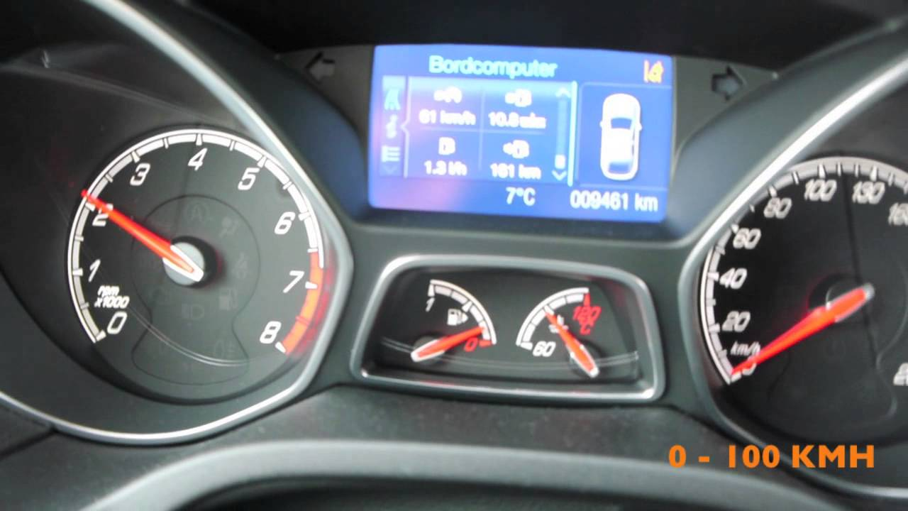 New Ford Focus St Acceleration 0 100 100 200kmh Youtube