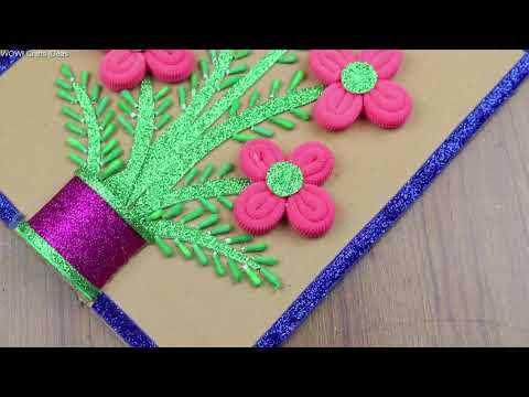 DIY Best out of waste || How to Make Beautiful Wall Showpiece For Home Decor - Best reuse ideas