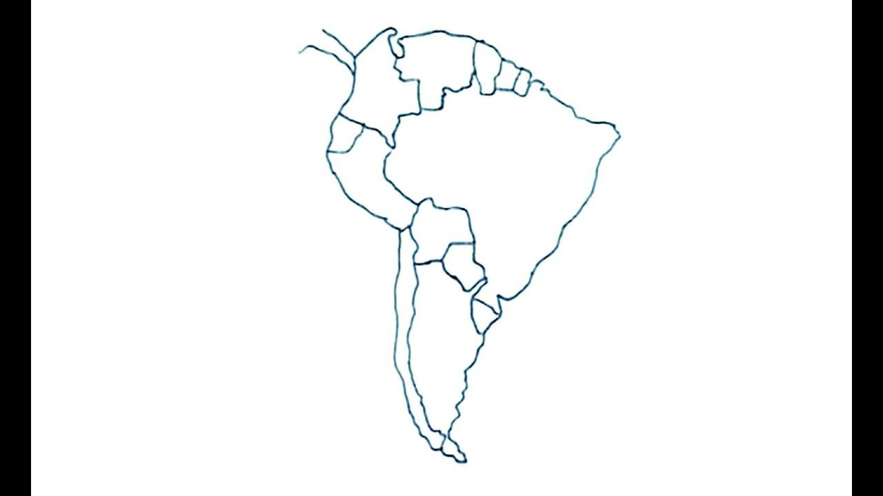 Dibujos de mapas 4/4 - Cómo dibujar el mapa de Suramérica con ...