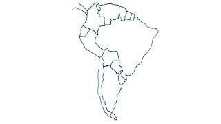 Dibujos de mapas 4/4 - Cómo dibujar el mapa de Suramérica con división - maps