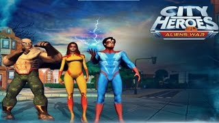 City Heroes 3D Aliens War - Android Gameplay HD