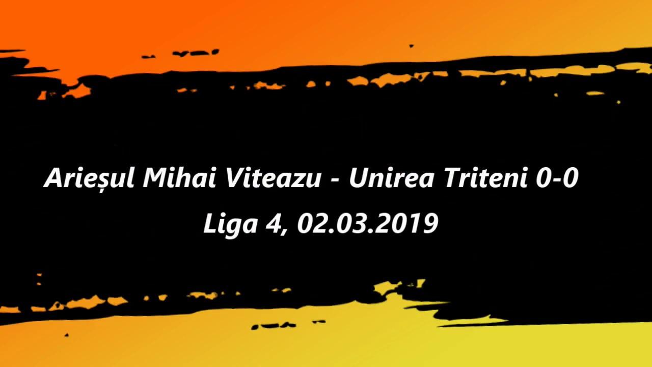 Rezumat. Arieșul Mihai Viteazu - Unirea Tritenii de Jos 0-0 (02.03.2019)