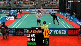 2015 Yonex Canada Open   MS R16   Lee Chong Wei vs Wong Wing Ki