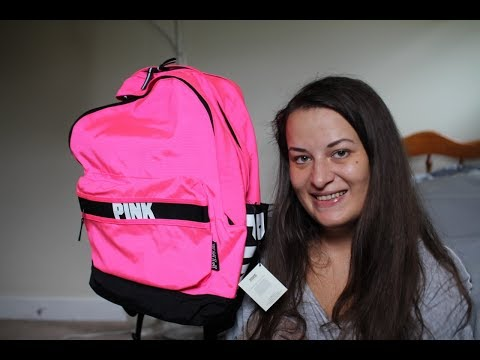 Victoria's Secret PINK Campus Backpack, review, PINK Collegiate Backpack, Back to school