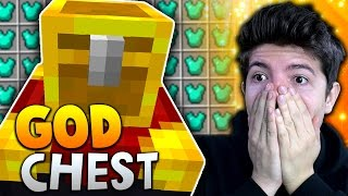 GOD CHEST!! | Minecraft TEAM SKYWARS #23 with PrestonPlayz & Kenny