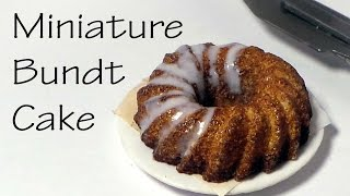 Miniature Bundt Cake - Polymer Clay Tutorial