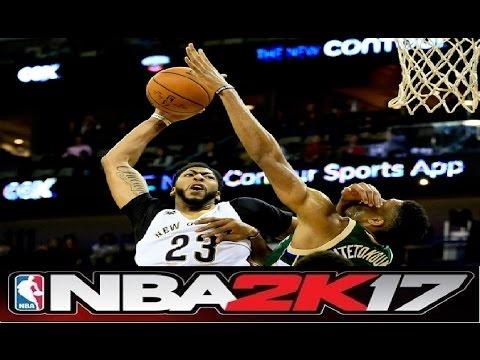 Nba 2k17 Gameplay Anthony Davis Vs Giannis Antetokounmpo