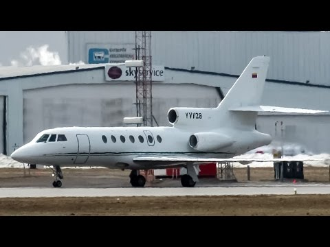 Venezuelan Government Falcon 50 (FA50) landing in Montreal (YUL/CYUL)