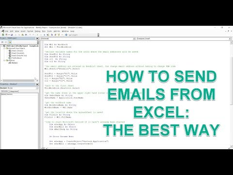 How To Send Email From Excel With Link Back To Workbook VBA Macro