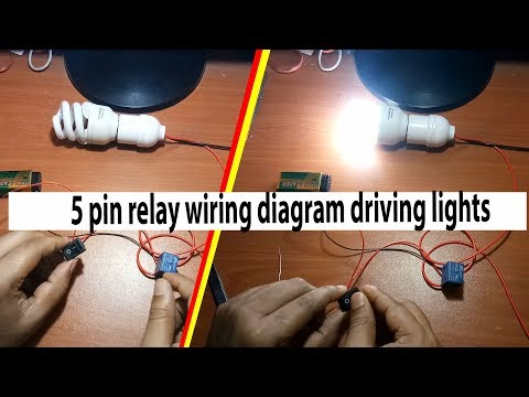 2 5 Pin Relay Wiring Diagram Driving Lights By Earthbondhon Youtube