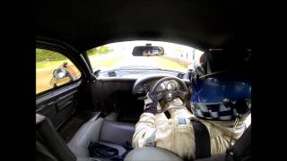 Jaguar XJR-15 in car footage - Justin Law driving on the limit