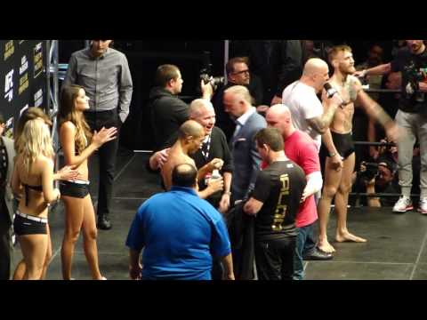 Jose Aldo Vs Conor McGregor Weigh-In UFC 194 Live Las Vegas