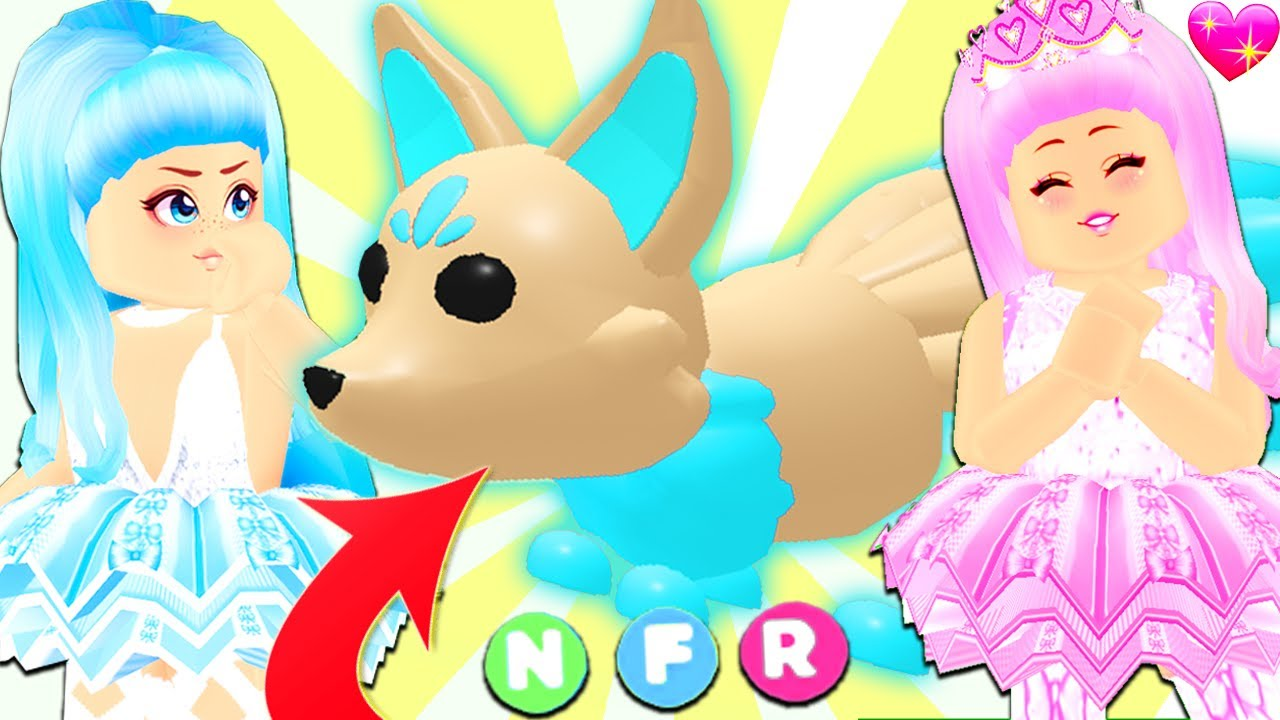 Surprising My Twin With The First Neon Kitsune In Adopt Me... Roblox Adopt Me