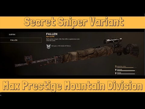 What Happens When You Prestige a Division to Max? (Mountain Division New Kar98K Variant)