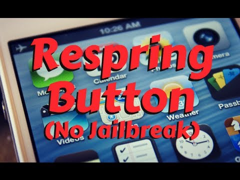 How to Add A Respring Button (No Jailbreak) on iPhone, iPod Touch & iPad