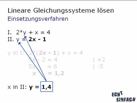 mathe video lineare gleichungssysteme teil 1 von 6 youtube. Black Bedroom Furniture Sets. Home Design Ideas