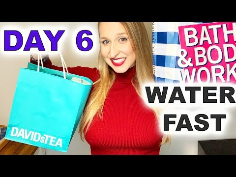 "water-fast:-day-6---""fast-with-me""-daily-vlog---haul-video:-davids-tea-+-bath-&-body-works-(pumpkin)"