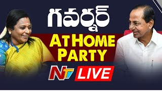 CM KCR LIVE || Governor Tamilisai Soundararajan Hosts At Home Program  LIVE