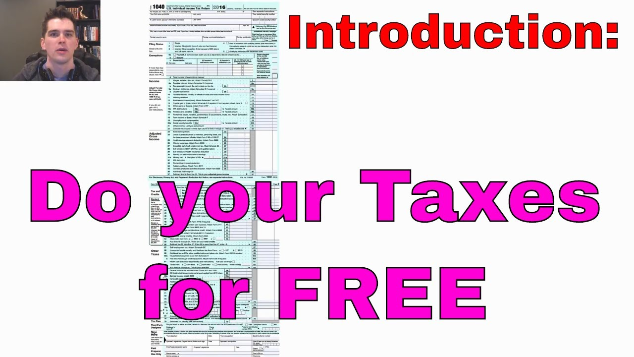 How to file your taxes for free: With Free Fillable Forms (Intro ...
