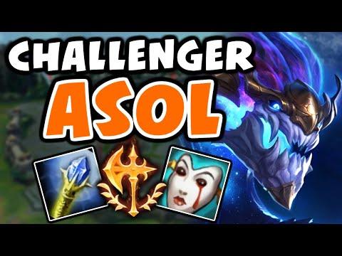 How I Aurelion Sol in CHALLENGER  Vs Akali  Preseason - League of Legends