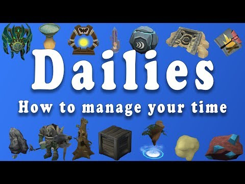 How to manage your dailies on Runescape!