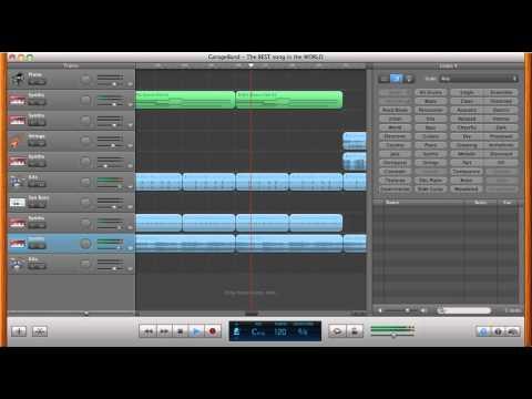 Garageband music: A homemade song