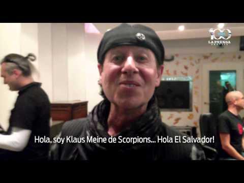Vocalista de Scorpions saluda a lectores de La Prensa Gráfica