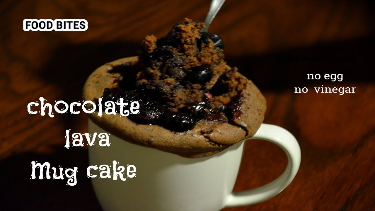 Instant 2 mins Microwave Chocolate lava mug cake recipe ...