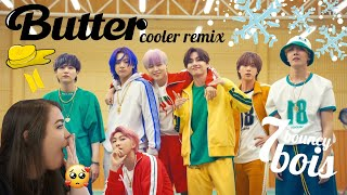 BTS: Butter Cooler Remix MV ARMY Reaction   tae bae in his own little world