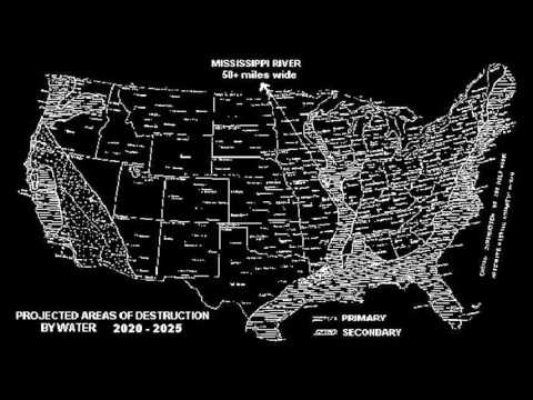 Al Bielek Future Map Of The US YouTube - Us navy future map of united states